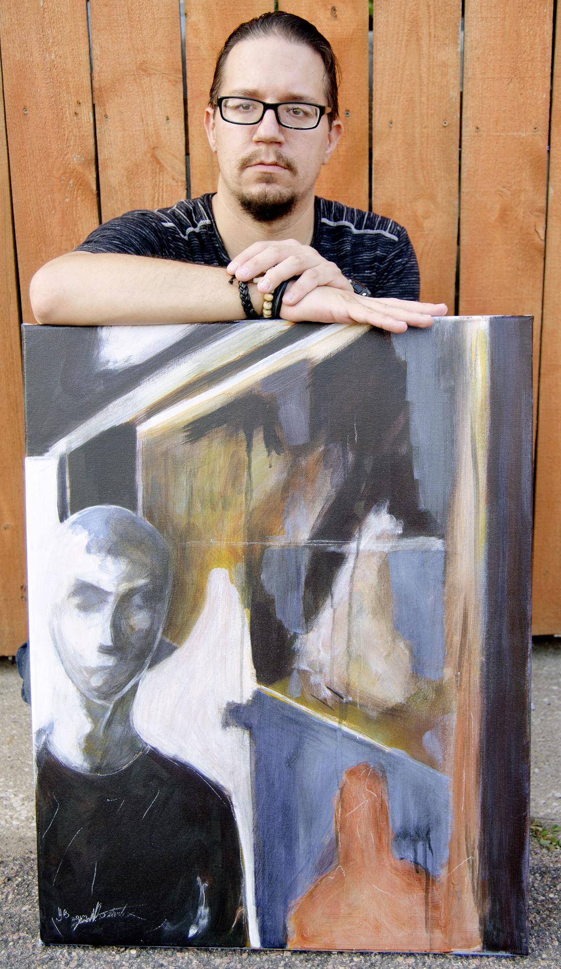 Josh Beckwith showcases his art