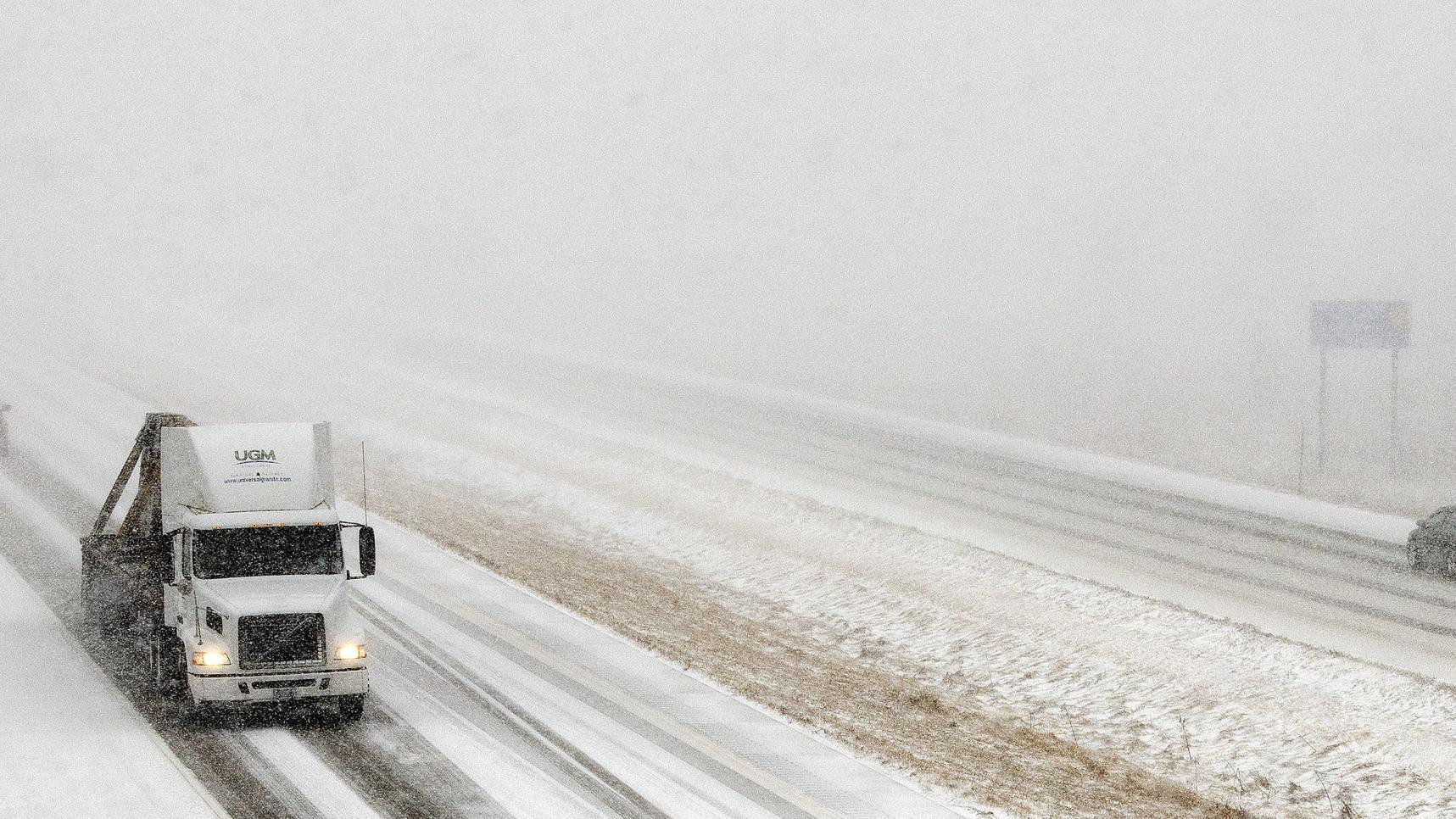 Winter storm makes travel treacherous, causes interstate closure