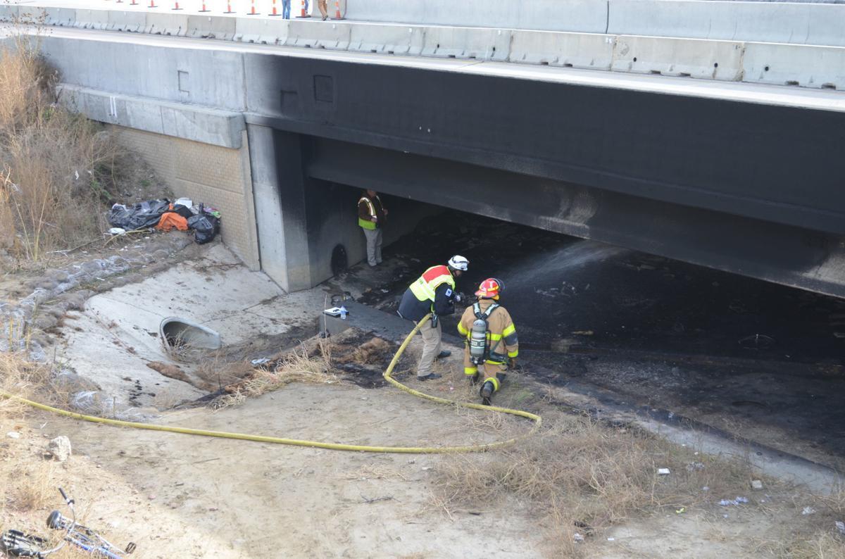I-29 bridge fire