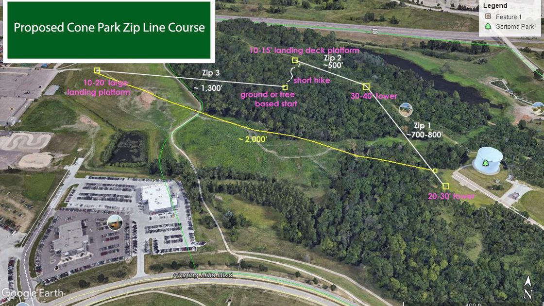 Slip 'n slide or zip line? City asks for Cone Park input | Local