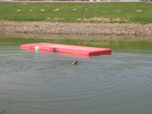 Coca-Cola truck submerged