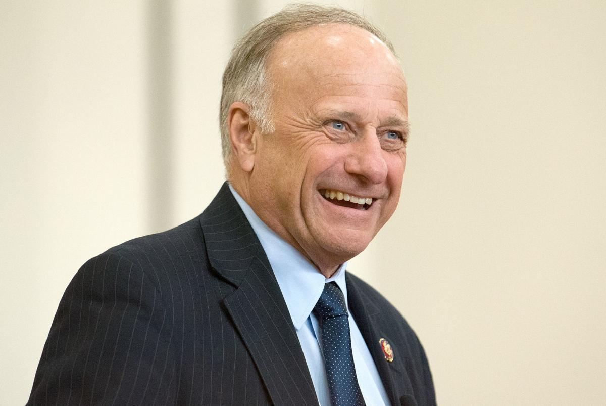 Steve King close-up Le Mars Town Hall