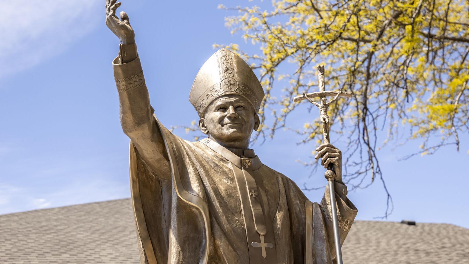 WATCH NOW: Trinity Heights adds Divine Mercy Garden, St. John Paul II statue