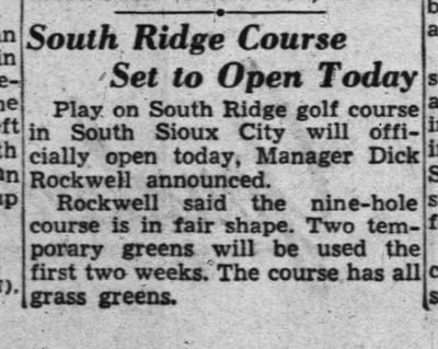 South Ridge Golf Course archive
