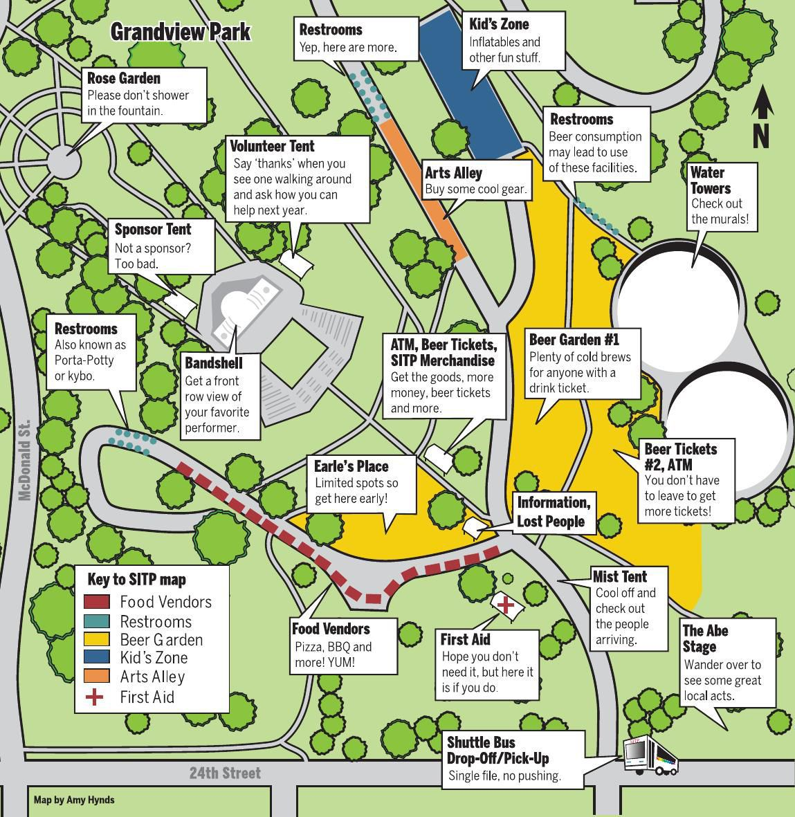 Saturday in the Park map