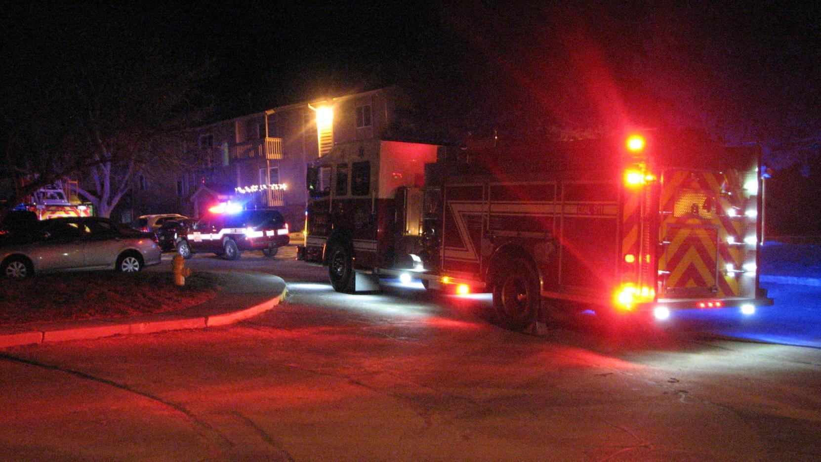 Fire department responds to Saturday evening deck fire