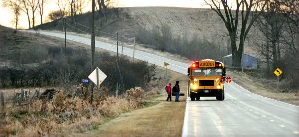 Castana, Iowa Rural school bus route