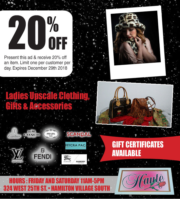 20% Off Ladies Upscale Clothing , Gifts and Accessories from Hauté