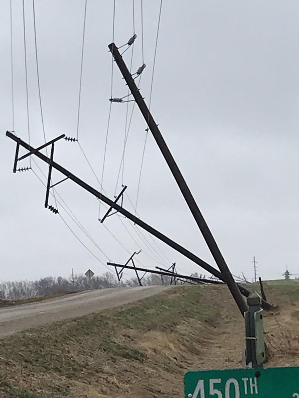 Transmission lines near Orange City