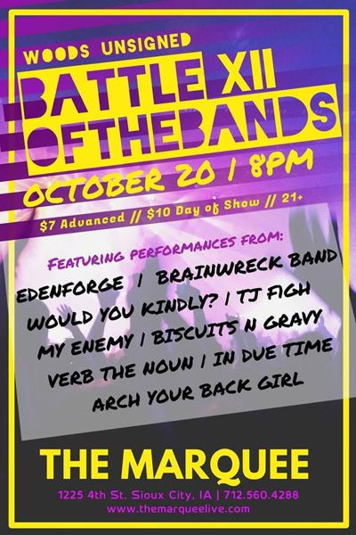 Woods Unsigned Battle of the Bands