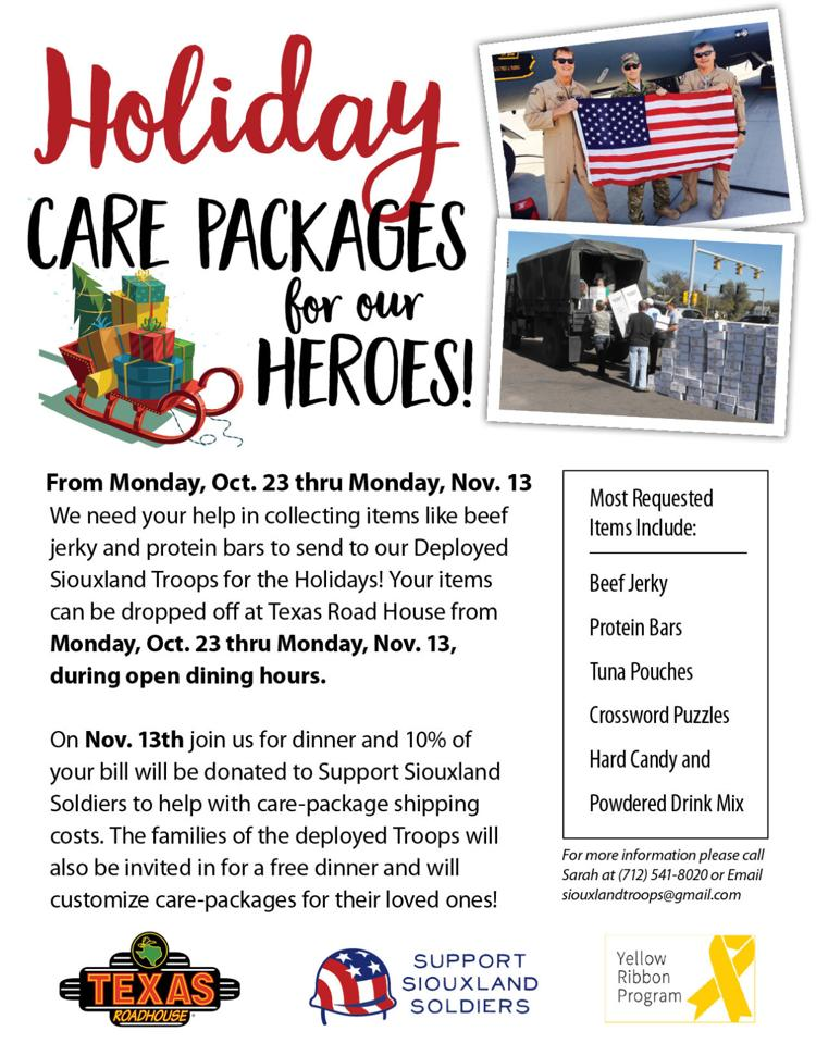 Support Siouxland Soldiers Care-Pack Event for Military