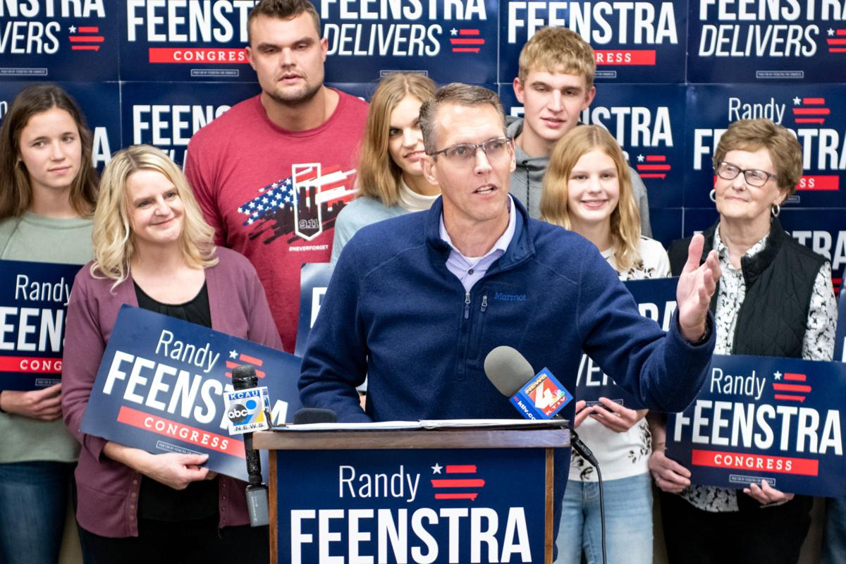 Sen. Randy Feenstra watches election results #1