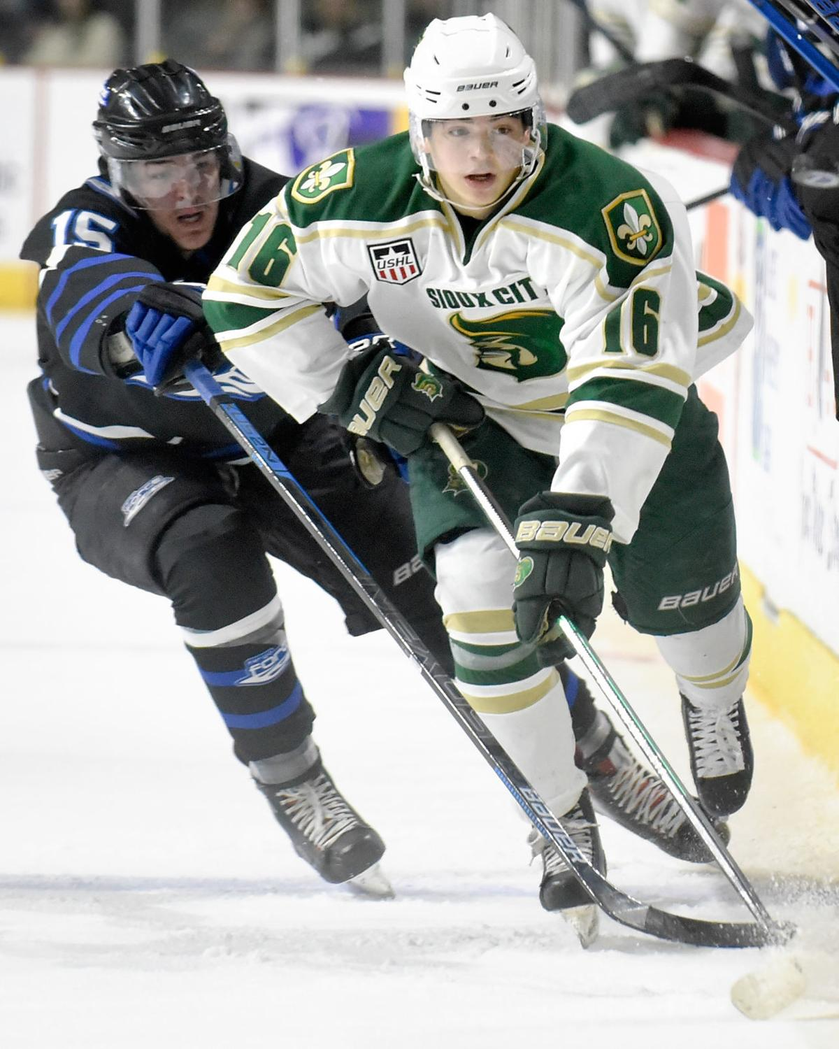 Hockey Fargo Force at Sioux City Musketeers (Gallagher Story)