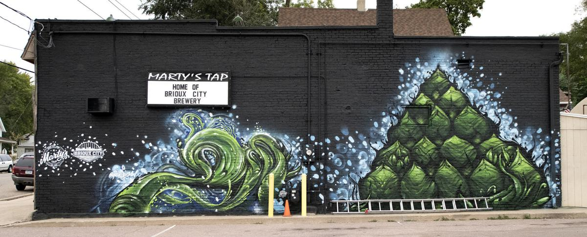 Marty's Tap hop mural