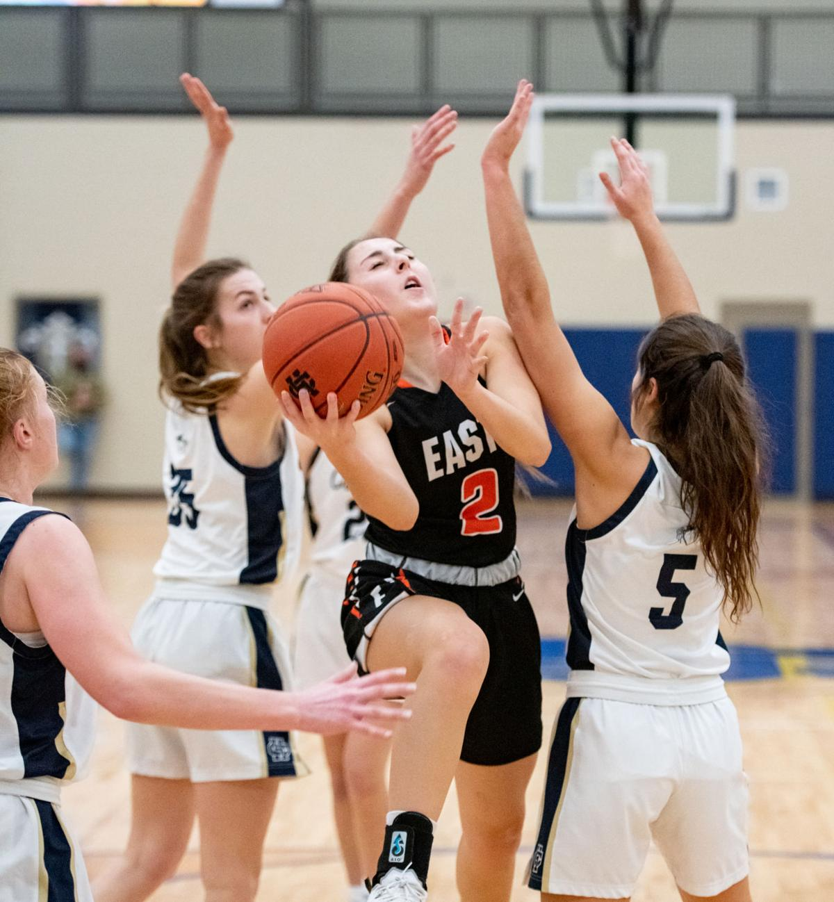 East vs Heelan basketball