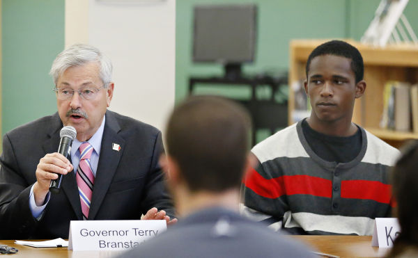 Gov. Branstad panel discussion on bullying at West High