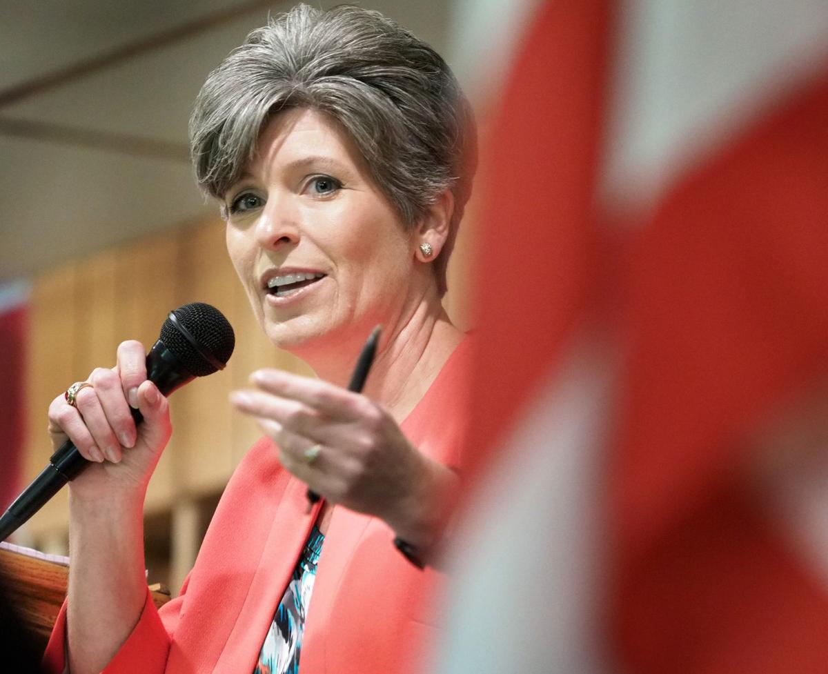 Joni Ernst head shot town hall meeting
