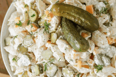Dill Pickle Pasta Salad Is Both Creamy And Crunchy