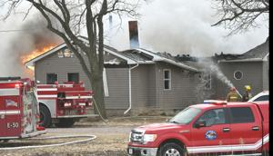 UPDATE: No one home at the time of total-loss Dakota City house fire