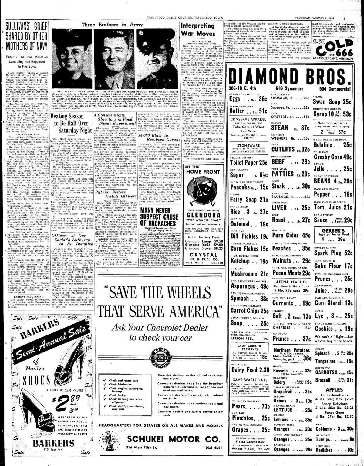 Courier Jan. 14, 1943