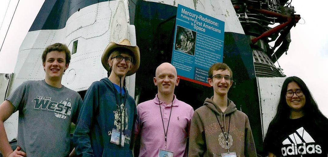 sioux city kids at johnson space center