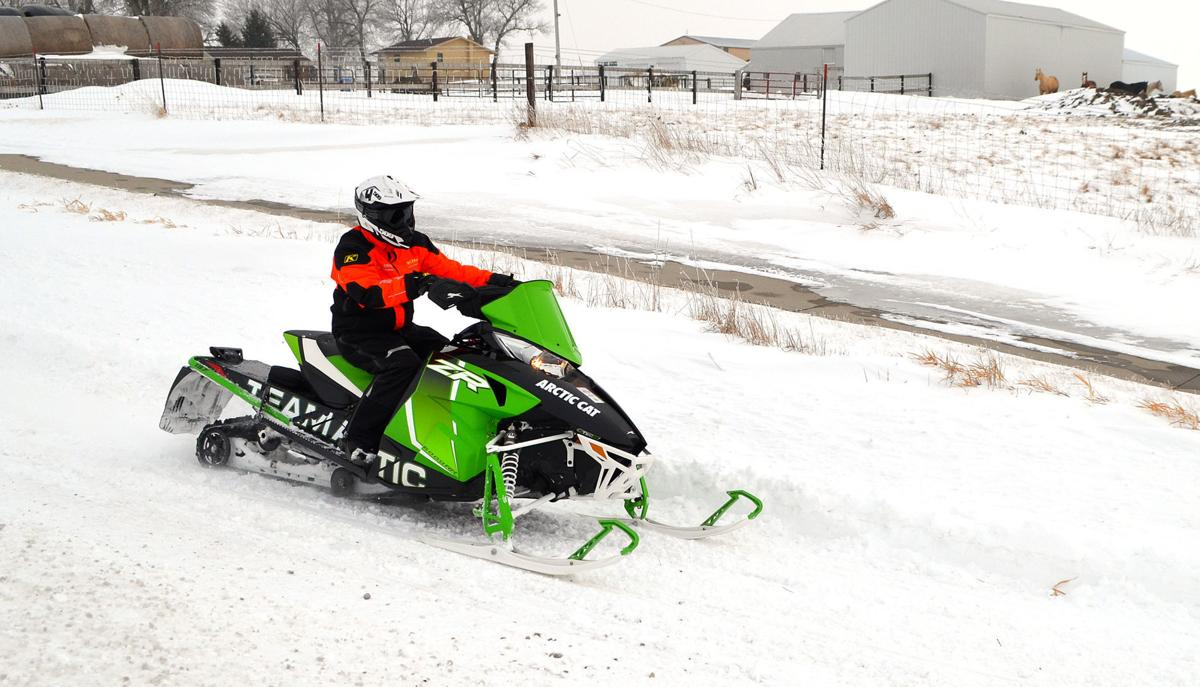 Winter games snowmobile