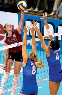 Metcalf hopes to land Olympic volleyball berth