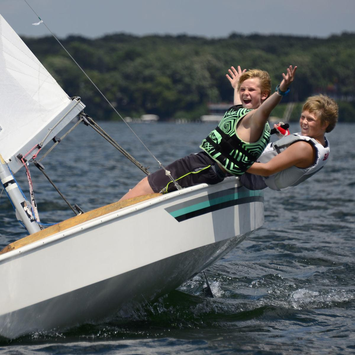 sailing school kid shot
