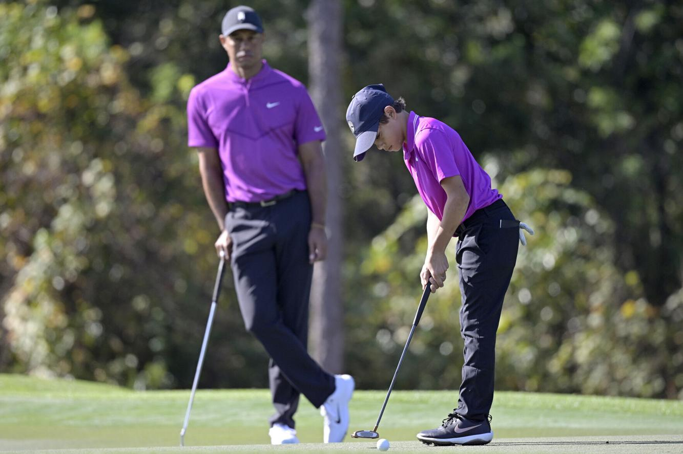 Tiger Woods' son makes TV debut and plays like dad | Golf ...