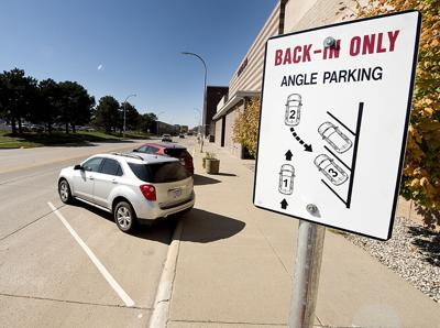 Back-in angle parking