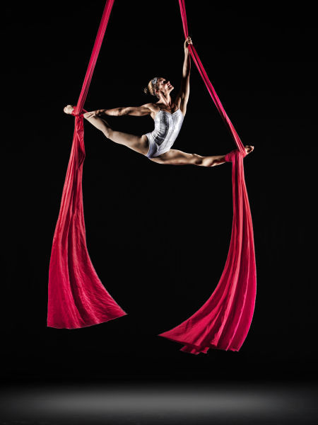 Christine Van Loo with Cirque de la Symphonie