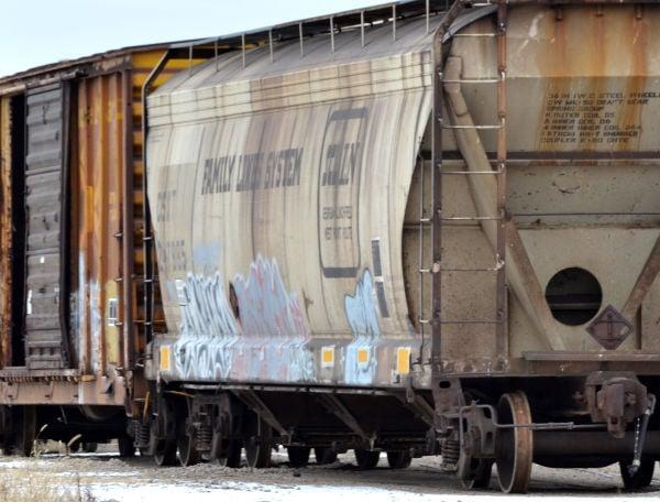 Railroad car graffiti
