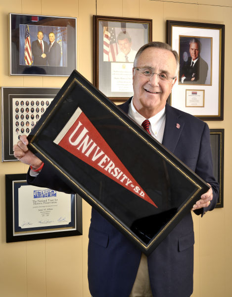 University of South Dakota president James Abbott