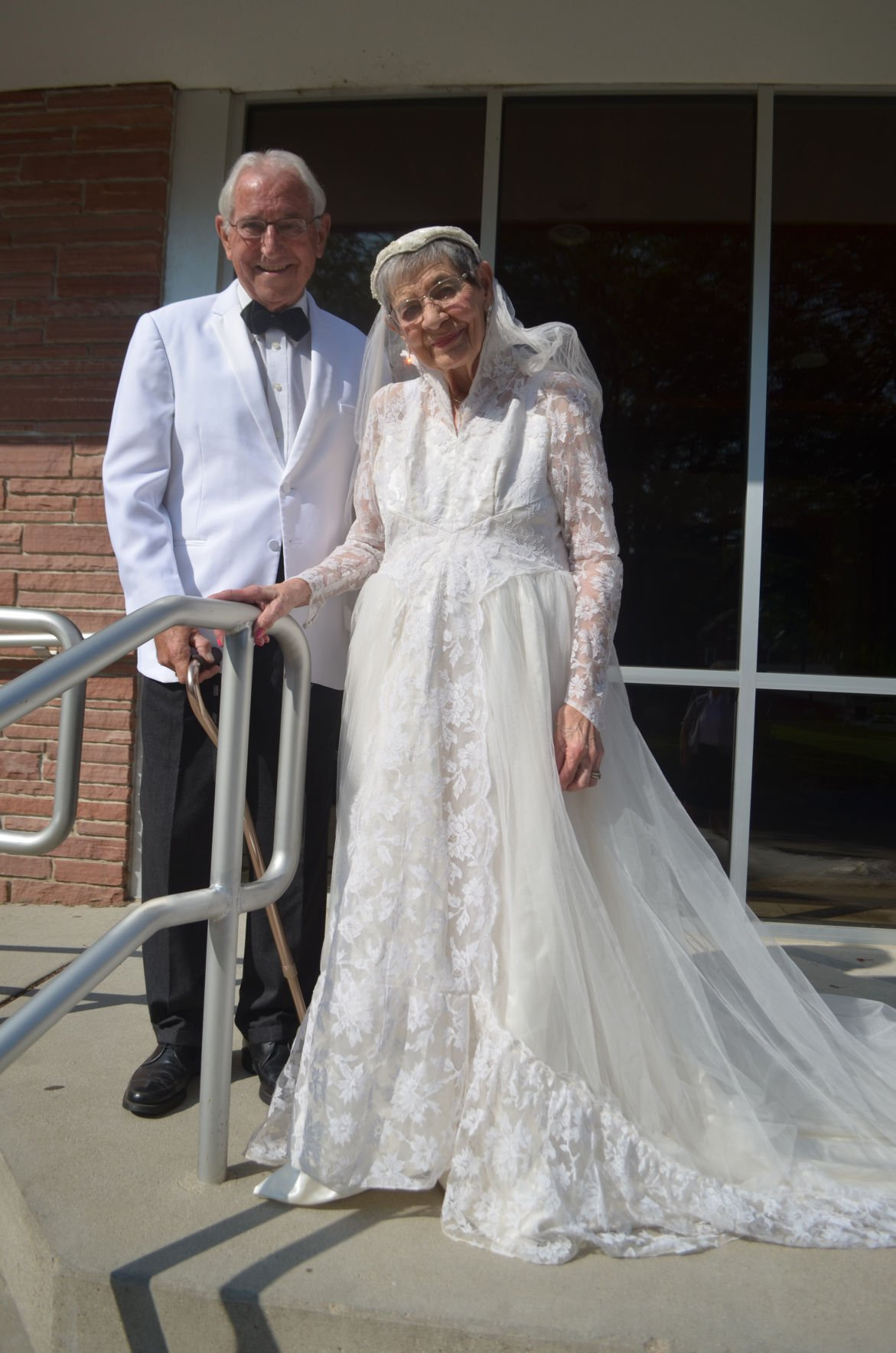 Bride wears wedding gown to 65th anniversary celebration | Local ...