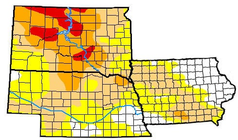Drought Map SD NE IA