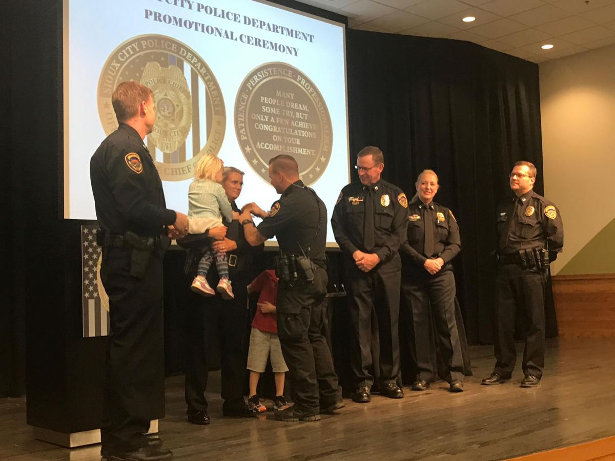 Sioux City Police promotions 2017