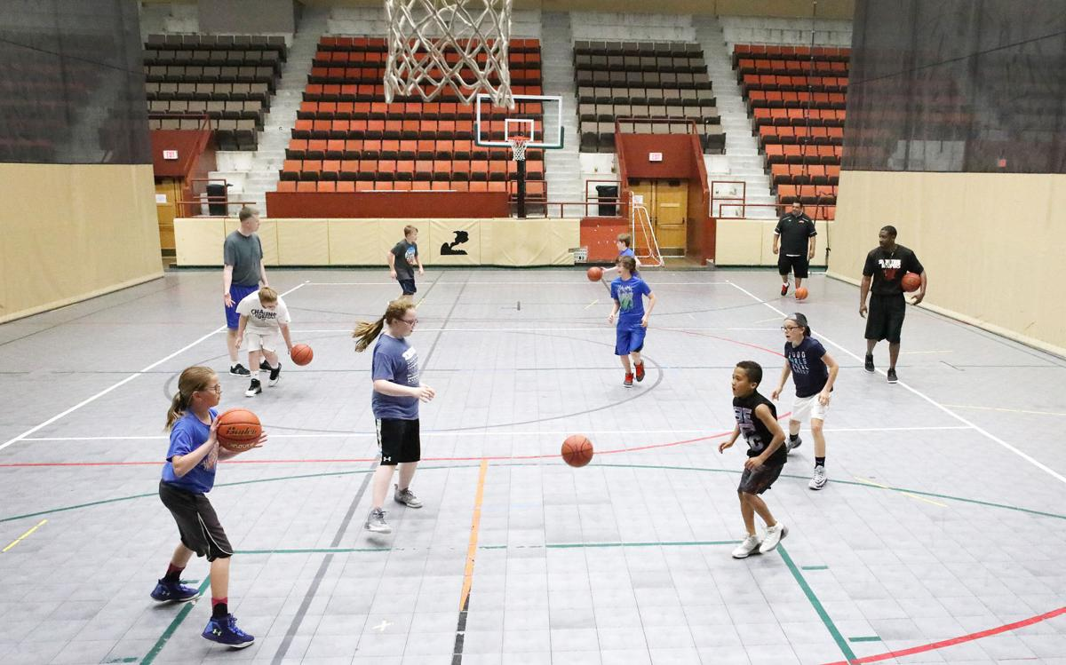 AAU basketball practice