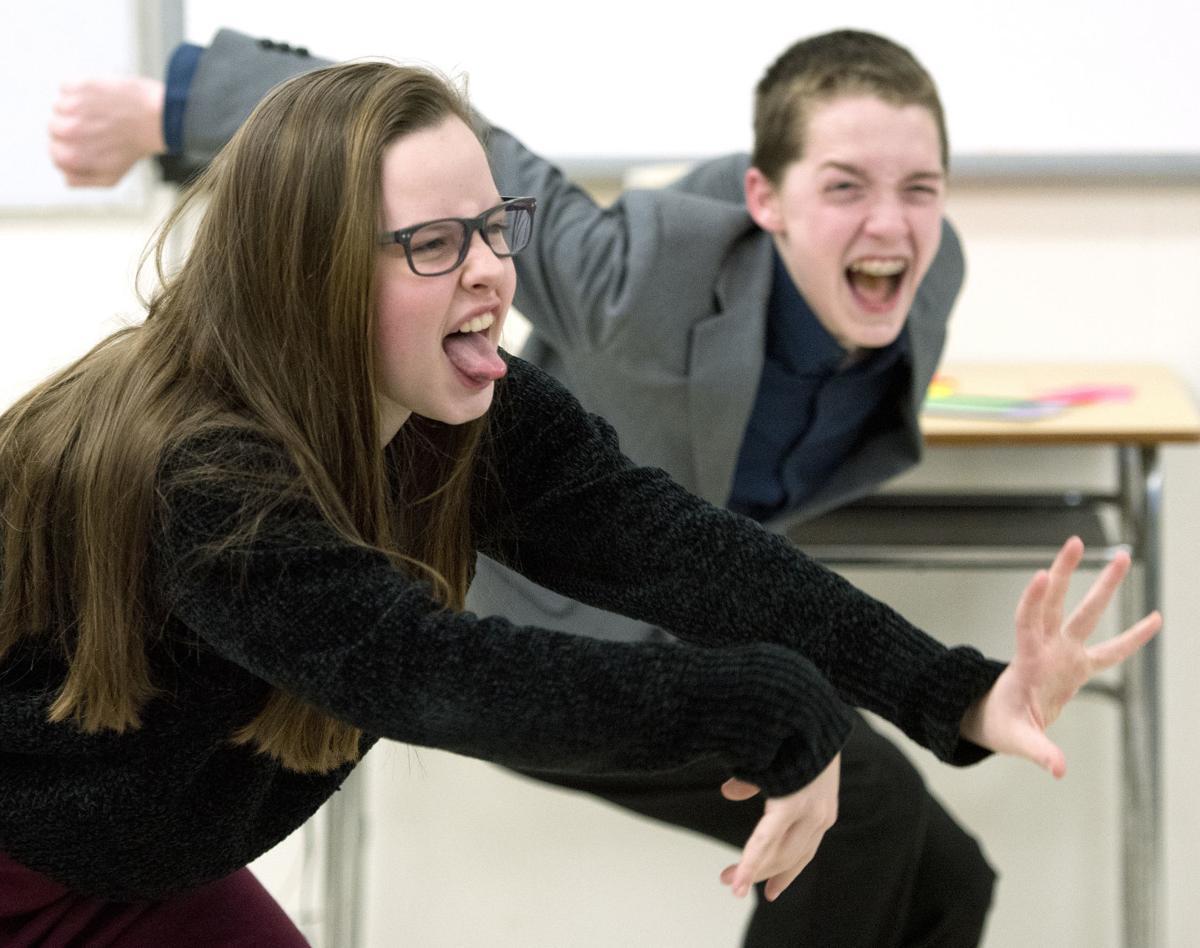 East High School speech students