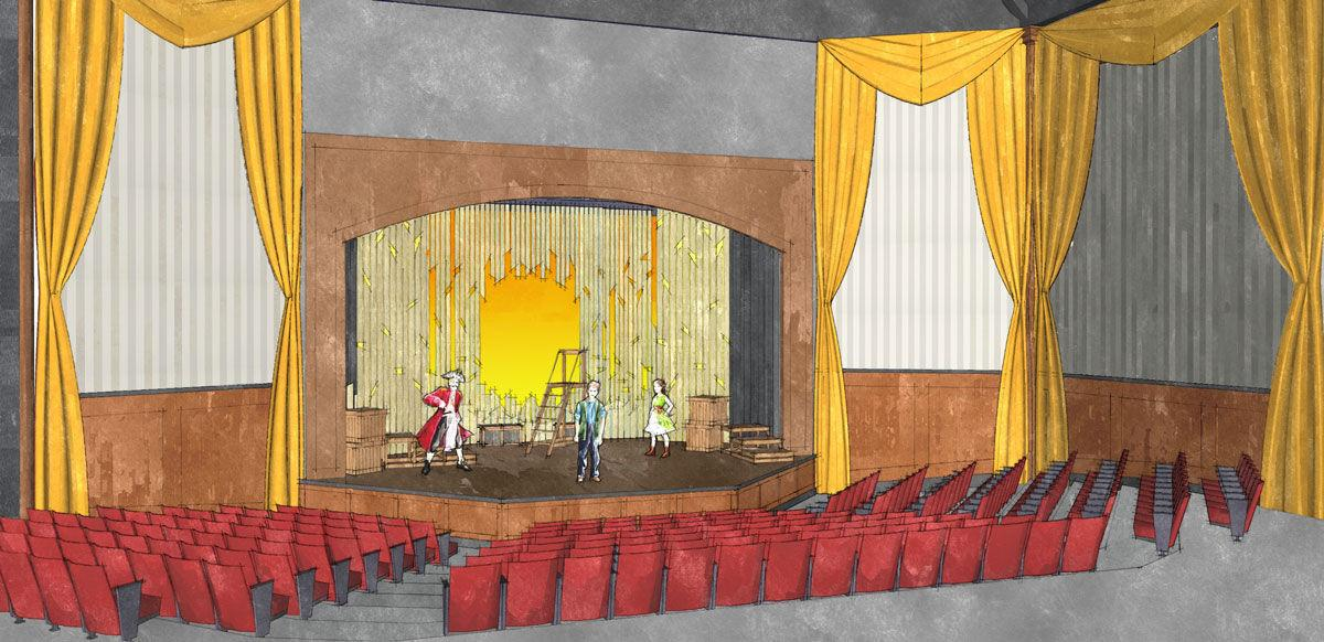 Lamb Theatre stage rendering