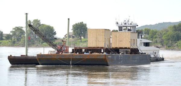 Missouri River barge