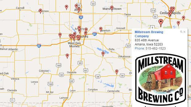 map iowa breweries iowa news siouxcityjournal