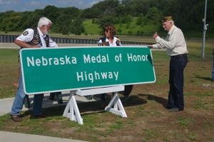 Nebraska Medal of Honor Highway sign unveiled in South Sioux City