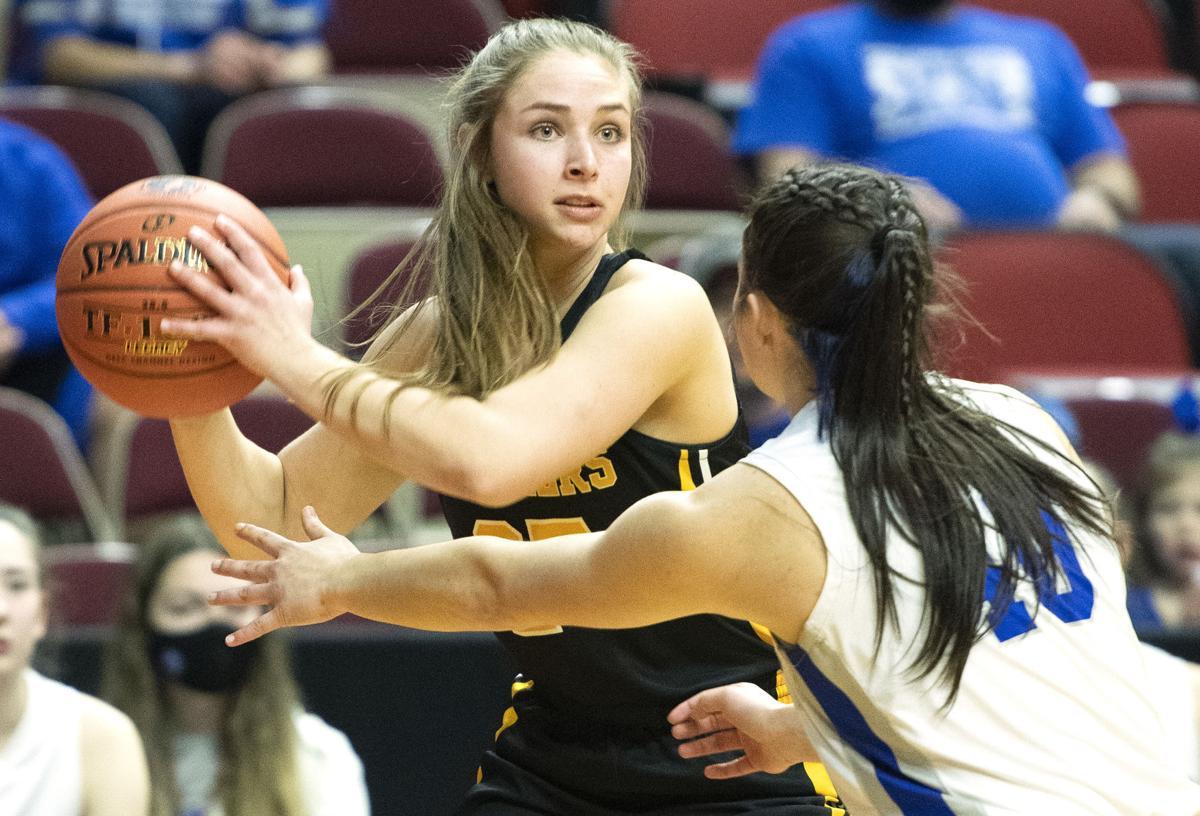 Newell-Fonda vs Kingsley-Pierson girls state basketball