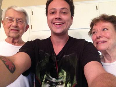 Ari with his grandparents