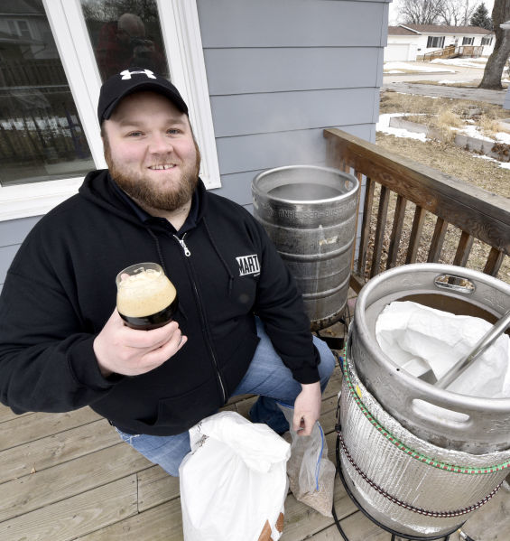 Onawa home brewer Erik Martin