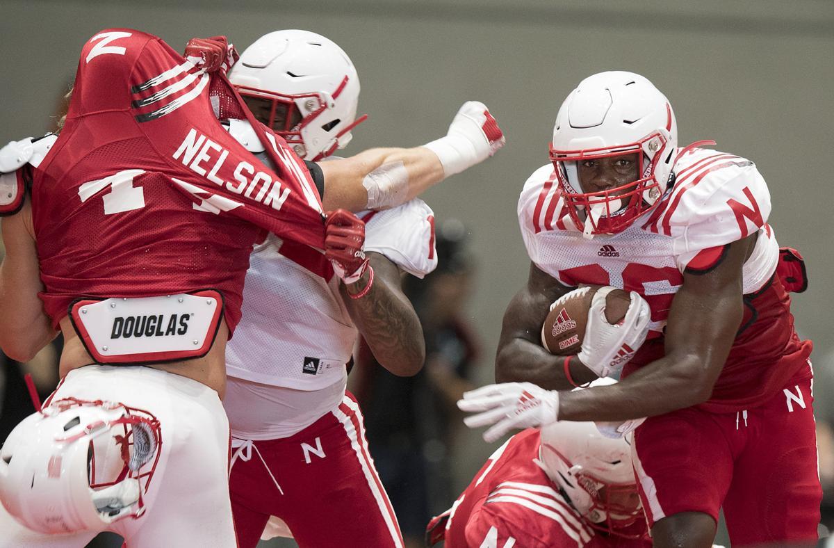 Nebraska football practice, 8/14