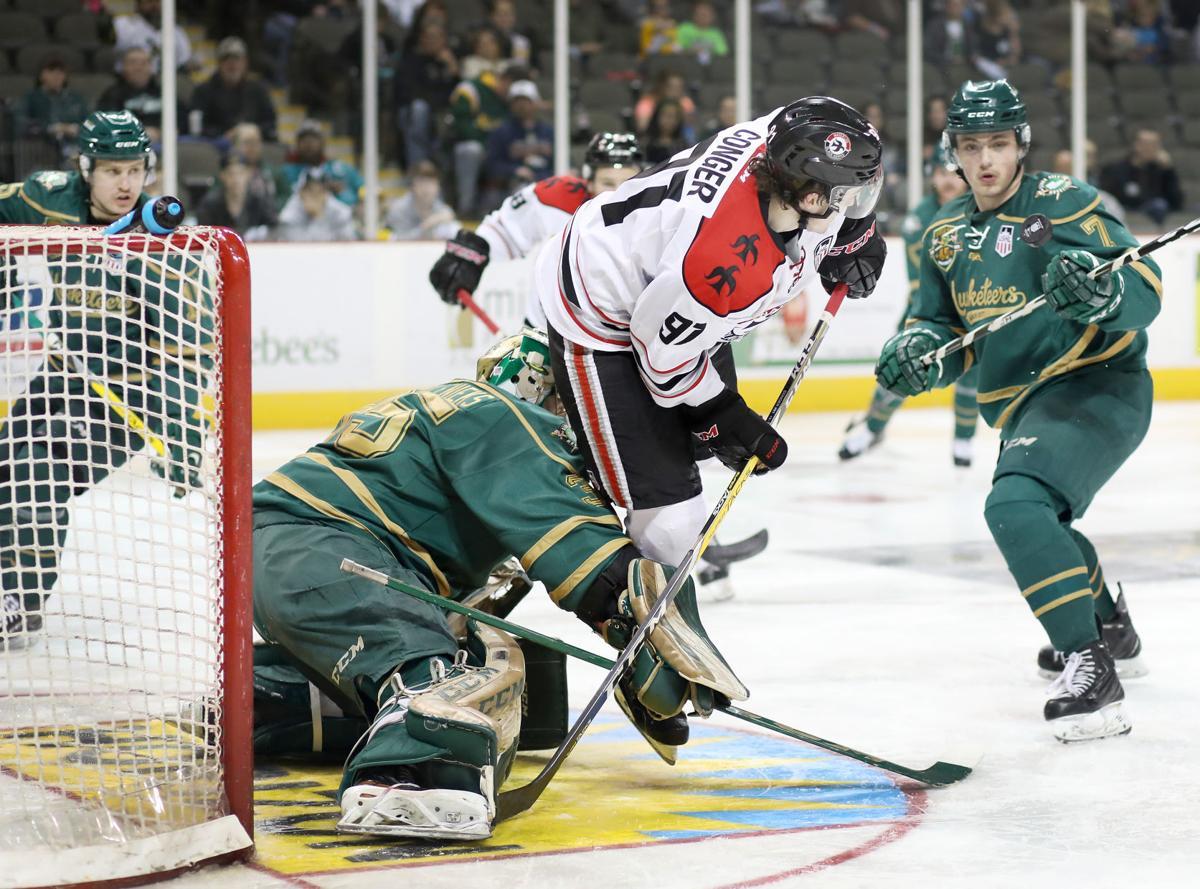Waterloo Blackhawks at Sioux City Musketeers hockey