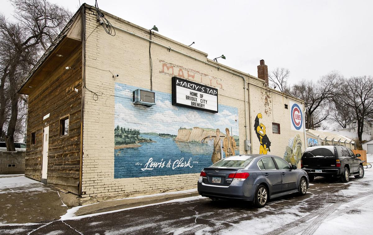 Marty's Tap's old mural
