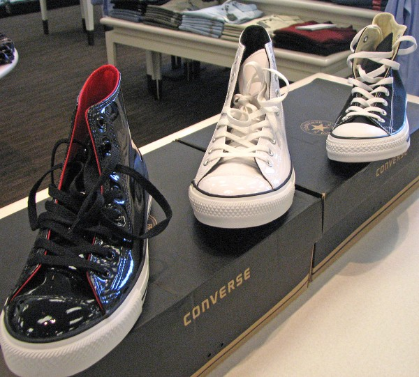 Patent leather high-tops brings high