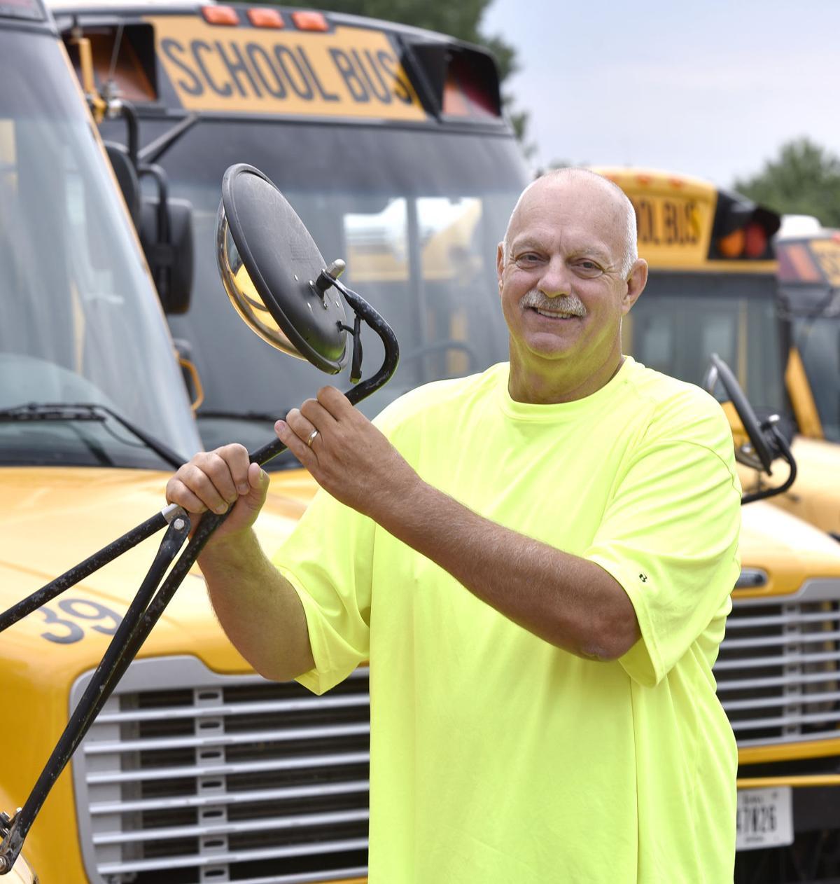 School bus driver George Gengler